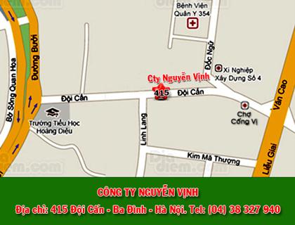 Sơ đồ đường đến công ty Nguyễn Vịnh