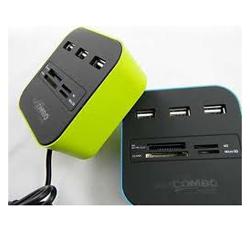 USB 2.0 HUB + Cardreader
